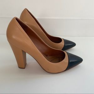 Zara Pumps in Camel and Black